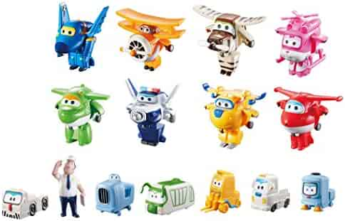 Super Wings - Transform-a-Bots World Airport Crew | Collector Pack | 15 Toy Figures | 2