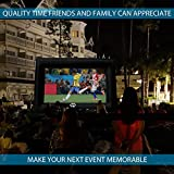 Outdoor Movie Screen – 22 FT Inflatable Projector Screen – Family Screen Tent + Printable Party Theme Movie Ticker Templates – Lightweight & Easy to Inflate – Family Pool Canvas Tent by Nozzco