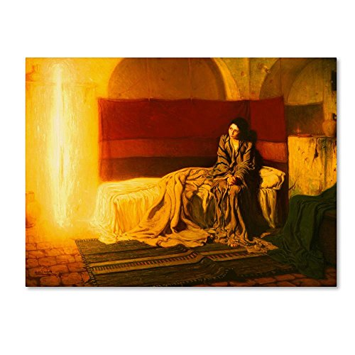 The Annunciation by Henry Ossawa Tanner, 24x32-Inch Canvas Wall Art