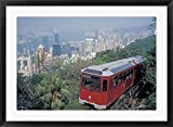 The Peak Tram, Victoria Peak, Hong Kong, China by Brent Bergherm / Danita Delimont Framed Art Wall Picture sold by Great Art Now, size 37x27 inches. This framed artwork is popular in our Transportation Art, Ground Transportation Art, Train Ar...