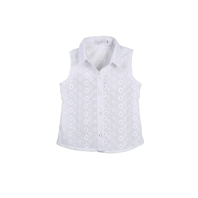 Camisa niña bonita RONDA _ camisa niña blanca, camisa niña verano, blusa niña flamenca