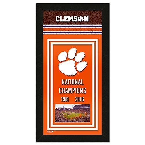 Ncaa National Championship Banner - Photo File NCAA Clemson Tigers 2016 National Champions Framed Championship Banner, 14.5