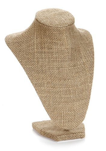Darice 1999-084BUR Burlap Bust Jewelry Stand, 9-Inch (Jewelry Display Bust compare prices)