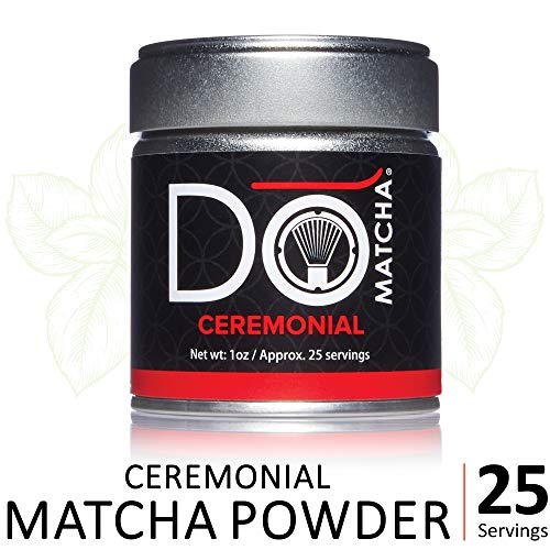 DoMatcha - Ceremonial Green Tea Matcha Powder, Natural Source of Antioxidants, Caffeine, and L-Theanine, Promotes Focus and Relaxation, 25 Servings (1 oz)