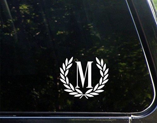[해외]레터 M s 사이즈 장식 모노 그램-4-12 \\ / Letter M SMALL SIZE Decorative Monogram - 4-12 x 3-4- Vinyl Die Cut Decal  Bumper Sticker For Windows Trucks Cars Laptops Mailboxes Tumblers Boats Glasses. Mugs Etc.