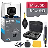 GoPro HERO 5 Session Bundle (7 items) + 64GB Card + Camera Case + Accessory Kit