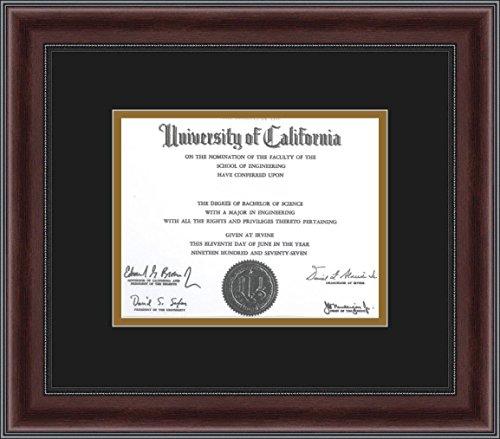 ArtToFrames Mahogany Burgundy Beaded Diploma