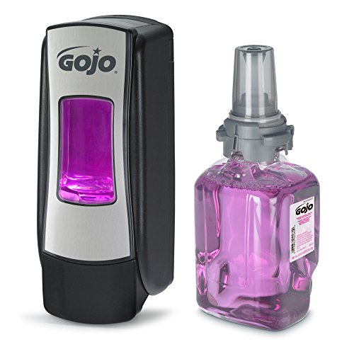 (go-jo institutional 8712-d1 Gojo, 700 ml, Antibacterial Plum Foam Hand Wash & ADX-7 Dispenser Starter Kit)