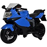 PoshTots Ride-on BMW Toy Bike with Rechargeable Battery and Interactive Features for Kids (2-4 Years, Blue)