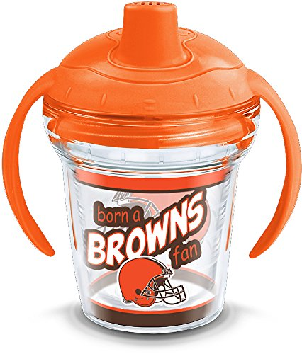 (Tervis 1290879 NFL Cleveland Browns Born A Fan Sippy Cup, 6 oz, Clear)