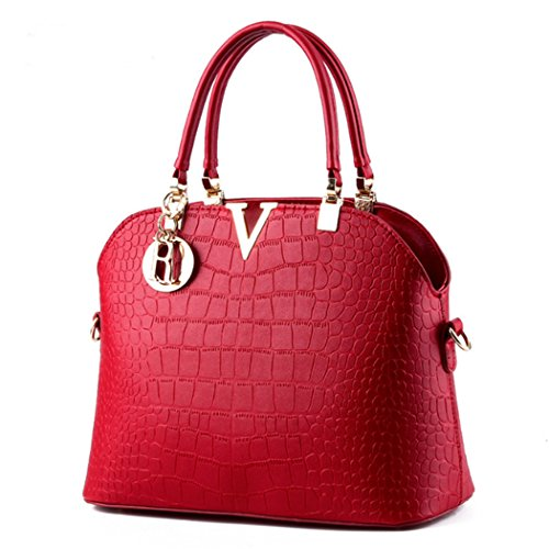 Shoulder Tote Purse Satchel Wine Hot Leather Bags Hobo Faux New Women Handbag Red Bag Beautiful qwFtCXU