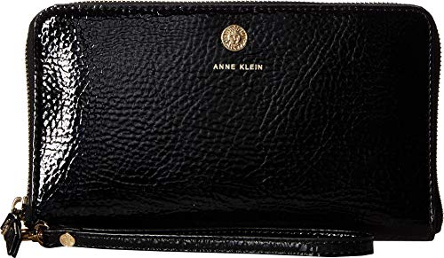 Anne Klein Women's Patent Slim Phone Wristlet Black One Size