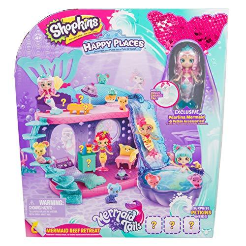 (Shopkins Happy Places Mermaid Reef Retreat Playset with 'Lil Shoppie Mermaid & Surprise Petkin)