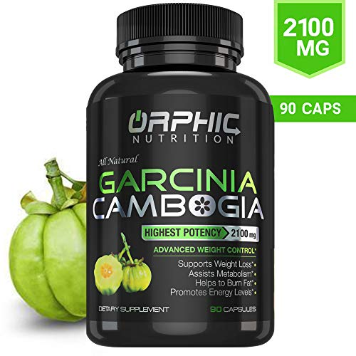 100% Pure Garcinia Cambogia Extract 95% HCA - 2100mg Appetite Suppressant Capsules - Orphic Nutrition - 90 Caps (Best Rated Garcinia Cambogia)