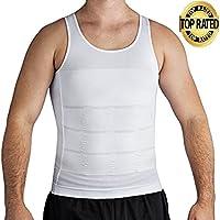Roc Bodywear Men's Slimming Body Shaper Compression Shirt,Slim Fit Undershirt Shapewear Mens Shirts Undershirts. USA COMPANY!