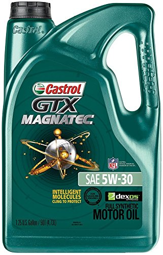 Castrol 03057 GTX MAGNATEC 5W-30 Full Synthetic Motor Oil, 5 Quart, Pack of 2