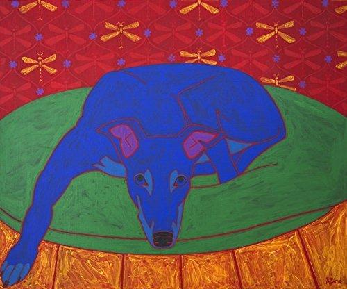 Greyhound Dog Art - Modern Dog Art - Colorful Dogs by Angela Bond (Art Dog Greyhound)