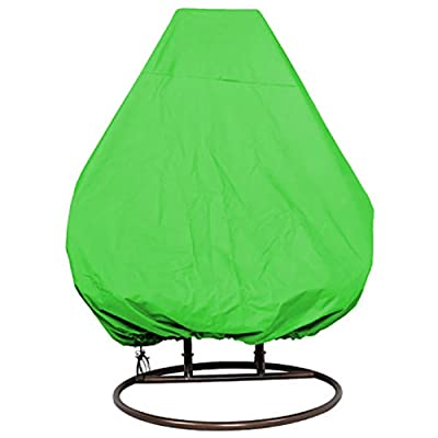 Cheng Yi Hanging Chair Cover for Double Swinging Egg Chair/Pod Chair/Swingasan, 2Person Outdoor Patio Garden Hanging Wicker Swing Chair Cover, Water-Resistant, All Weather Protection CYFC88 (Green) : Garden & Outdoor
