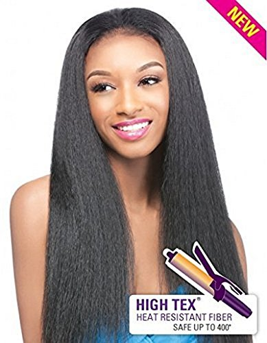 Outre Synthetic Hair Half Wig Quick Weave Annie, 1B by Outre