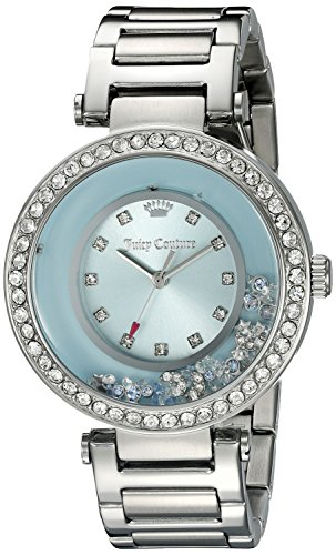 Juicy Couture Women's 1901330 Crystal-Accented Stainless Steel Watch - Juicy Crown