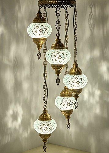 Mosaic Chandelier Mosaic Lamp Turkish Lamp Moroccan Lantern Buy Online In Uae Hi Products