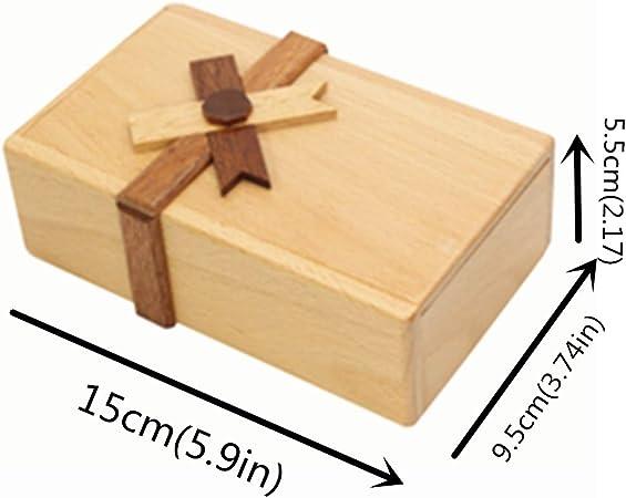 qingqingRPuzzle Caja de Regalo con Compartimentos Secretos Caja de ...