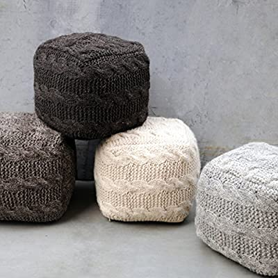 Norway Linen Fabric Pouf