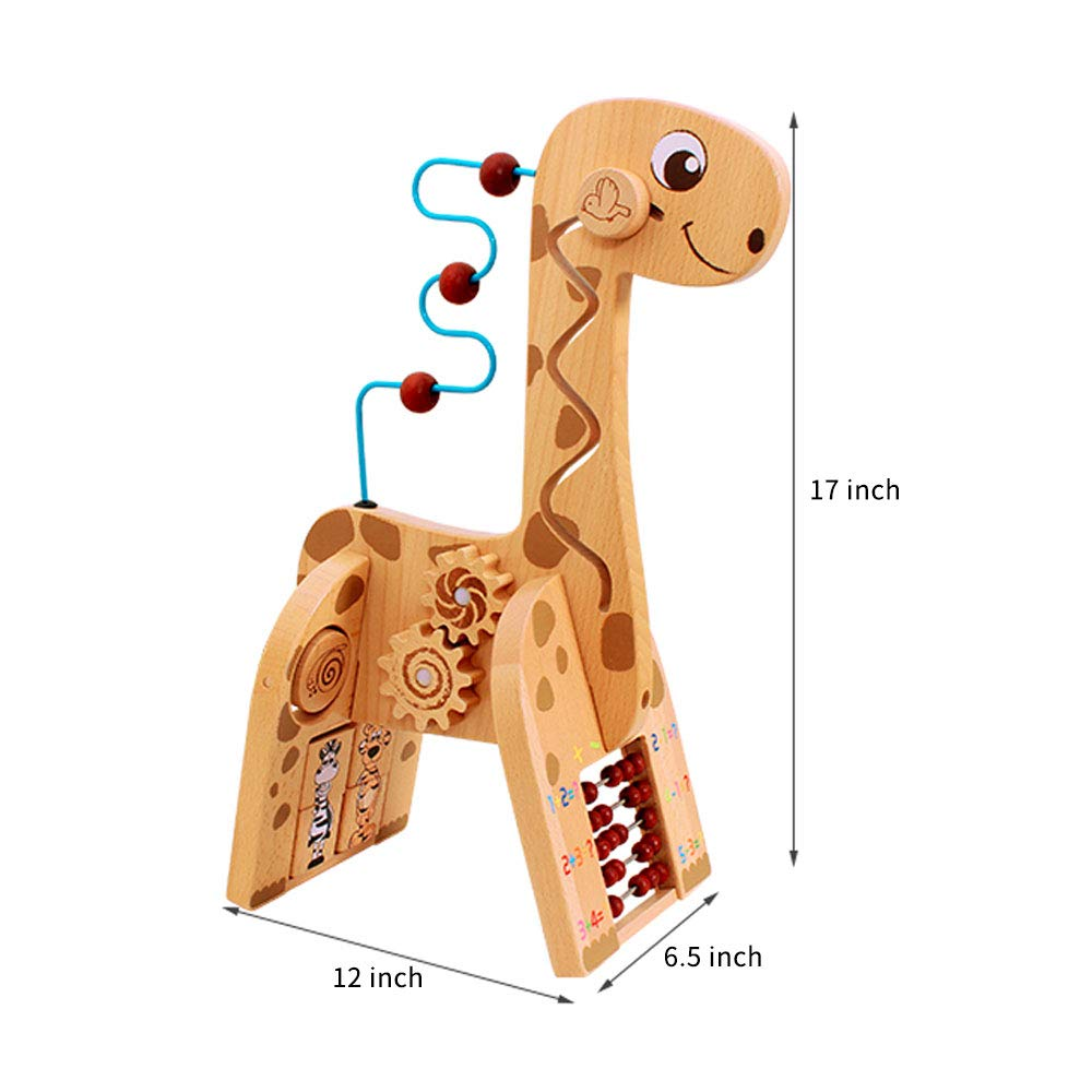Wooden Activity Cube 6 in 1 for Baby Deer Wooden Cube Toy Educational Toy Gift for Toddlers And Kids