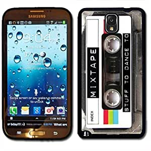 Samsung Galaxy Note 3 Black Rubber Silicone Case - Mixed Tape Cassette Retro Old School Music you can dance too by ruishername