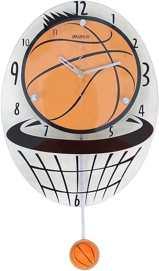 Relojes de pared Baloncesto Creativo Sala Moda Reloj silencioso ...