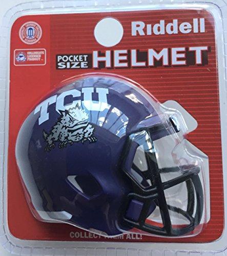 (Riddell Texas Christian TCU Horned Frogs NCAA Football Helmet Christmas Tree DIY Ornament)