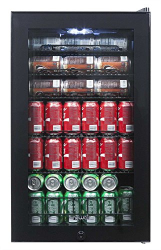 NewAir AB-1200B 126-Can Freestanding Beverage Cooler, Black, 126 Can,