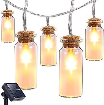 Oak Leaf 9.8 ft 30-LED Glass Jar Solar LED Light Strand