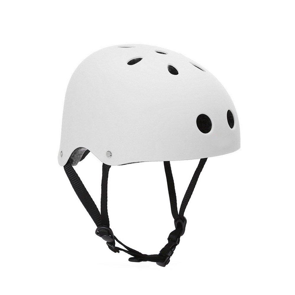 HOAEY Critical Cyclesクラシックコミューターバイク/スケート/ハイキング/ドリフトヘルメット(ブラック)(ホワイト、5661cm(L))   B01LWI4288