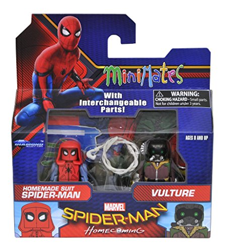 Marvel Minimates Series 73 Spider-Man Homecoming Movie Homemade Suit Spider-Man & Vulture 2-Pack