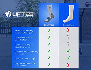 4 pk Comfort Compression Fit LIFT 23 Atacama Moisture Wicking Performance Socks