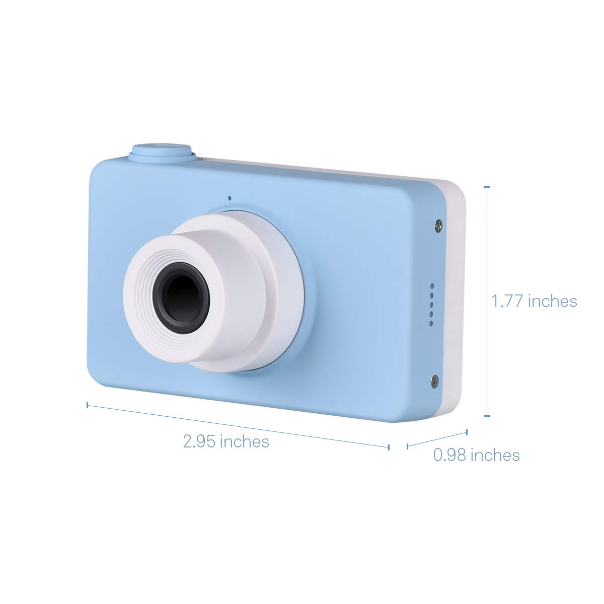 Tyhbelle Kids Camera Soft case Anti-Dropping Digital Camera Camcorder for Kids Toy with TF Card / Micro SD Card (Blue Camera) by Tyhbelle (Image #3)