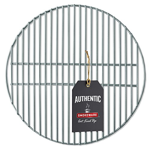 SmokeWare Stainless Steel Grill Grate - Compatible with Medium Big Green Egg, Heavy Duty Gauge, 16 inches ()