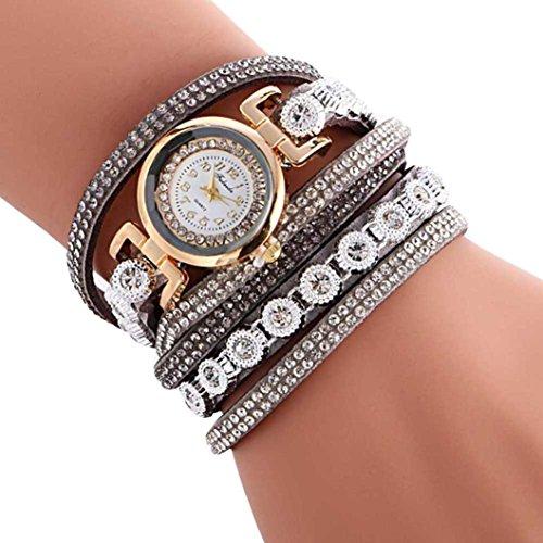 (Wristwatch,AutumnFall Women Ladies Metal Decorative Bracelets Watch,Style 2 (Gray))