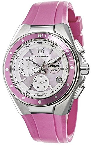 TechnoMarine Women's 110007 Cruise Steel Chronograph Pink MOP Dial Watch