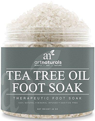 Art Naturals® Tea Tree Foot Soak Salt With Epsom Salt 20 oz - Fights Athletes foot and Nail Fungus - Helps to Soften Calluses
