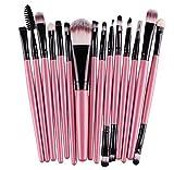 Gillberry 15 pcs/Sets Eye Shadow Foundation Eyebrow Lip Brush Makeup Brushes Tool (Pink)