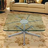 Square Glass Table Top 24 Inch Custom Annealed