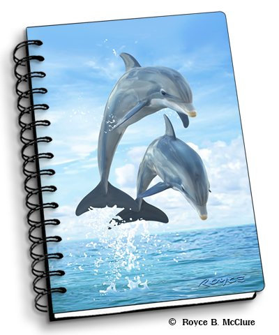 "Dolphin Jumpers - 4"" x 6"" 3D Notebook - Artgame from Artgame 3D"