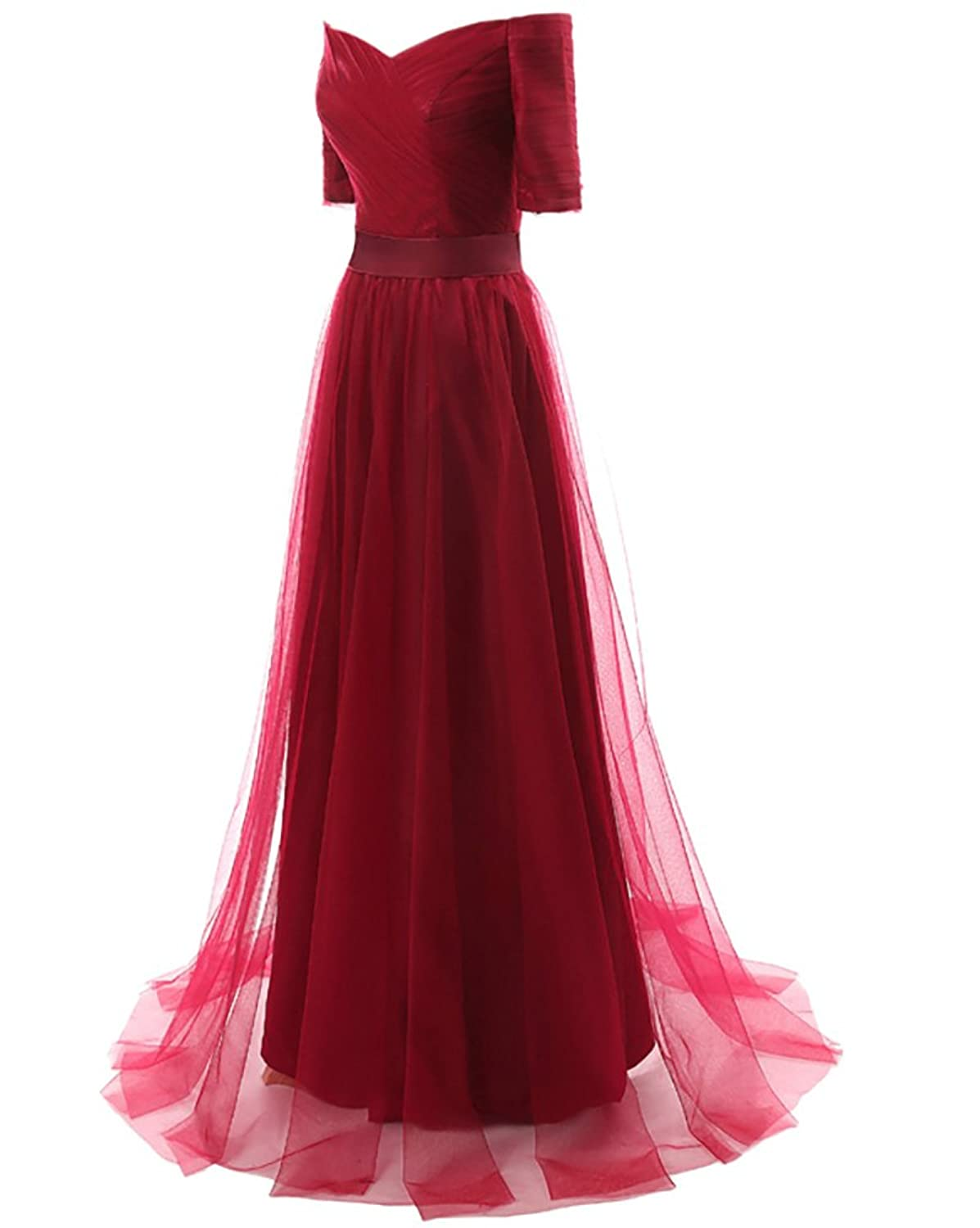 WAWALI Schulter Ab Tüll - Abend Party Kleider Ball Gowns: Amazon.de ...