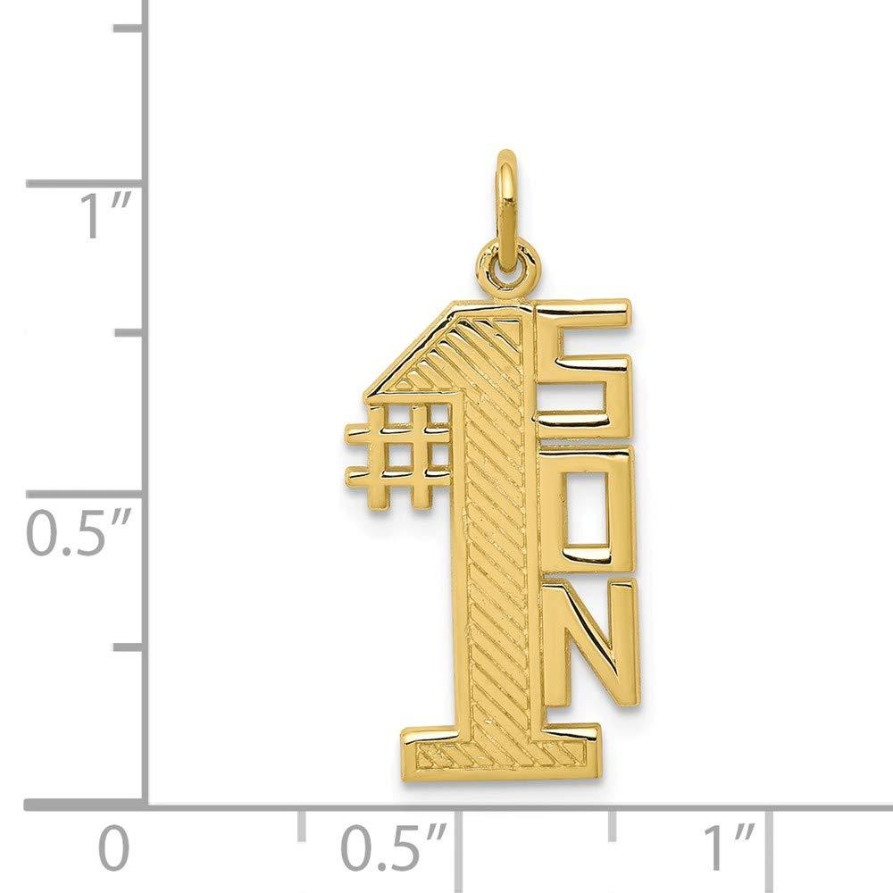 10k Yellow Gold Lined Design #1 Son Charm Million Charms MCQG10C116