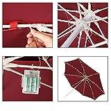 Patio Umbrella Lights Cordless Warm White String