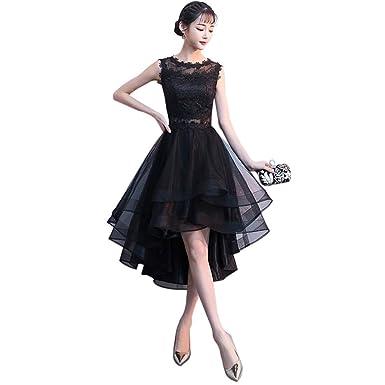 Drasawee Women 2018 Black Evening Dress Elegant Sleeveless Short Dress  Student Party Ball Gown 8af45746a5c5