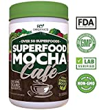 Super Greens Powder | Mocha Chocolate | Whole Food Supplement | Real Superfoods, Fruit & Vegetables Including Organic Spirulina, Broccoli, Spinach, Maca, Kelp, Milk Thistle & More.