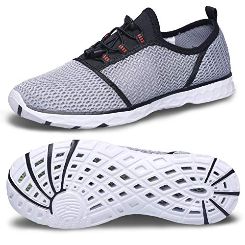 Water Beach Shoes-Swimming Shoes Mens Skin Shoes Quick-Dry Barefoot Surf Boat Sneakers for Water Sports Outdoor Swim Surf Beach Pool Yoga surf Shoes